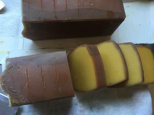 Elecampane Soap Bars -Slicing Time!