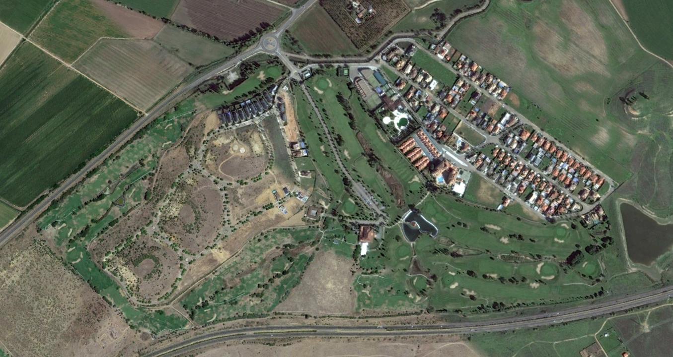 golf guadiana, badajoz, rotondas trifuerza, después, urbanismo, planeamiento, urbano, desastre, urbanístico, construcción, rotondas, carretera