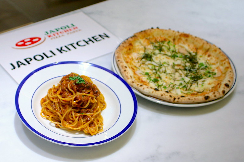 Japoli Kitchen's Bolognese Pasta and Mentaiko Pizza