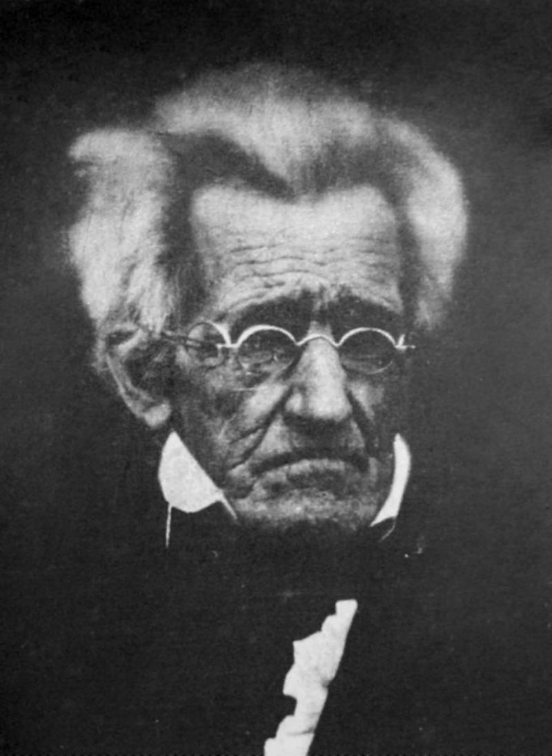 Andrew Jackson, age 78. Daguerreotype, 1845