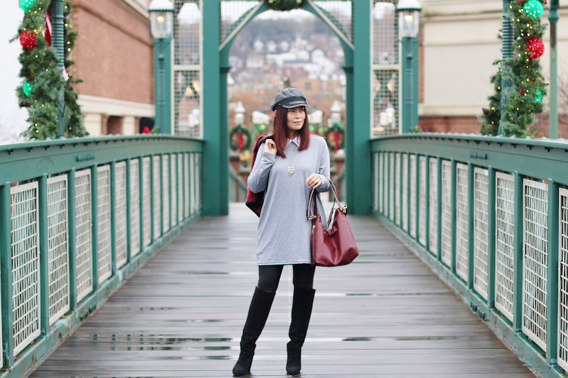 gray-shirt-dress-collar-lazy-caturday-shop-1