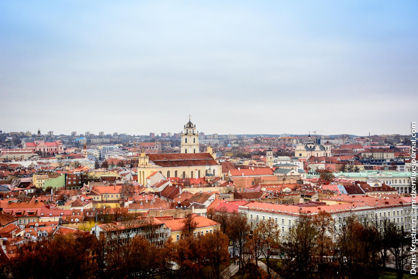 Вильнюс. Замковая гора. Вид на Старый город.