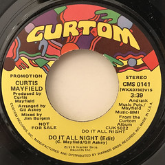 CURTIS MAYFIELD:DO IT ALL NIGHT(LABEL SIDE-B)