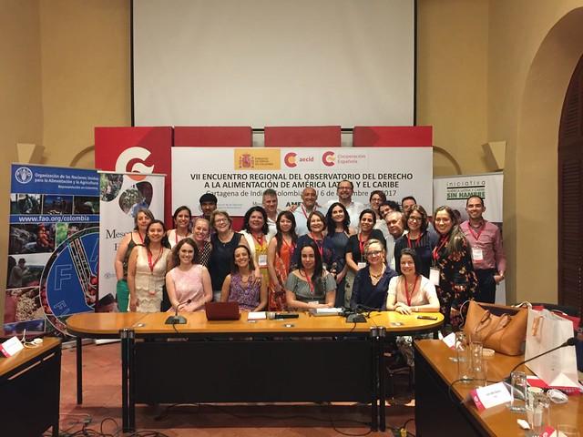 VII Encuentro Regional del Observatorio del Derecho a la Alimentación de América Latina y el Caribe 2017