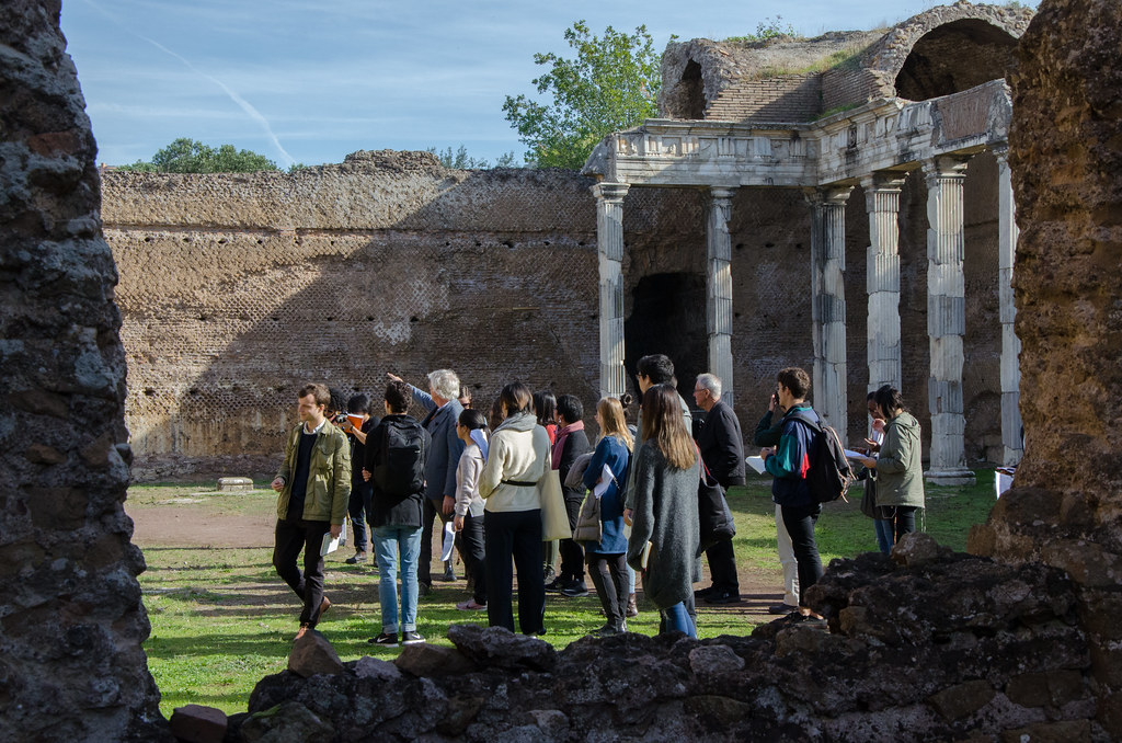 Jan Gadeyne guides students in the Cornell in Rome semester around Hadrian's Villa. photo / Ihwa Choi (B.Arch. '20)