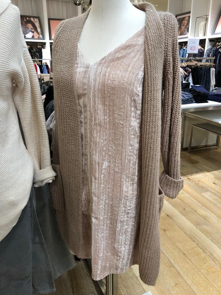 LOFT Crushed Velvet Swing Dress