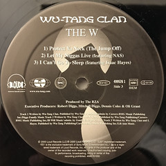 WU-TANG CLAN:THE W(LABEL SIDE-C)