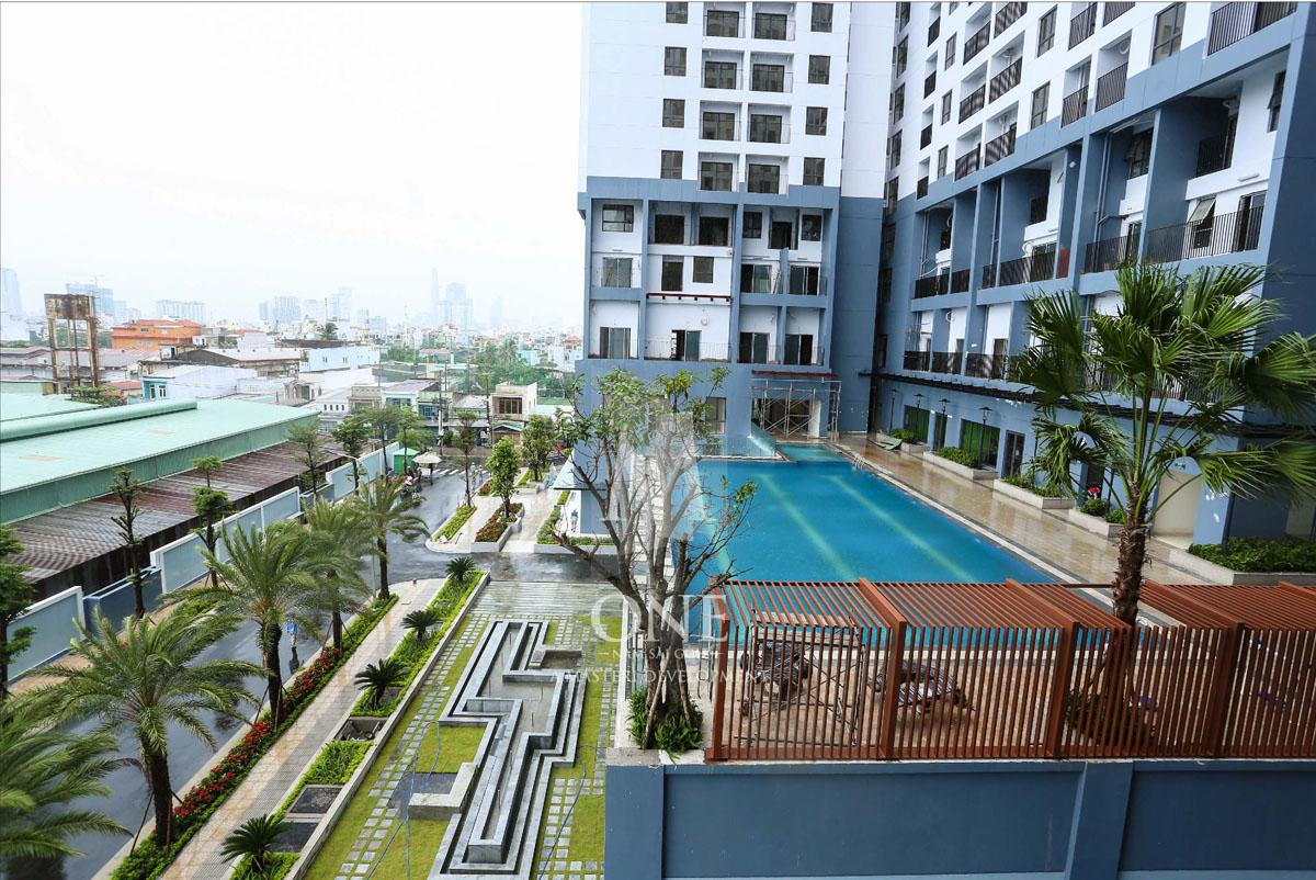 Hồ bơi đẳng cấp tại khu căn hộ M-One: cho thuê căn hộ 3 phòng ngủ 3PN 2WC