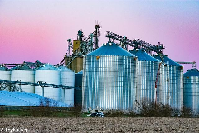 Sundown Reflections in Corn Country