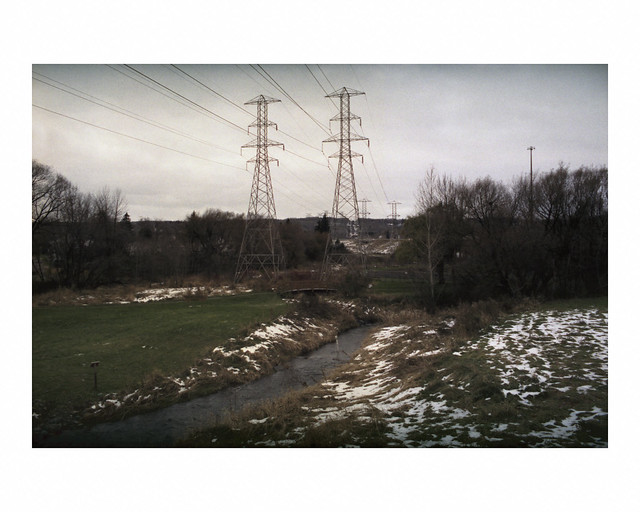 Kingsbury Creek and power transmission towers
