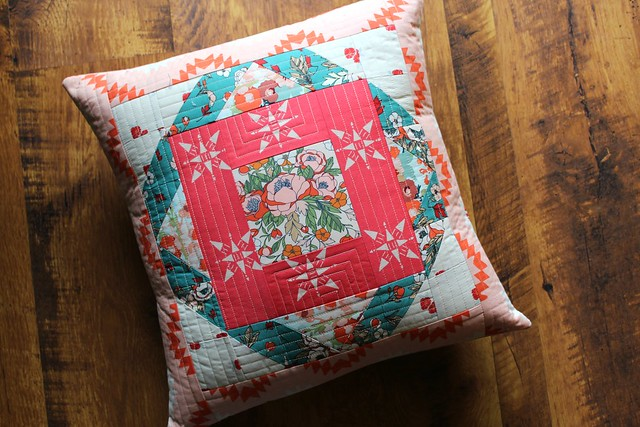 AGF Quilt Block Tour Moroccan Pillow in Love Story