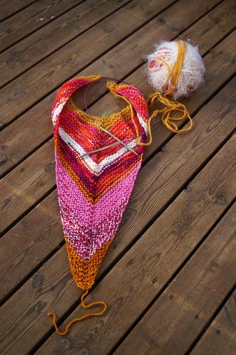 Scrap shawl