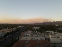 Creek fire from Burbank