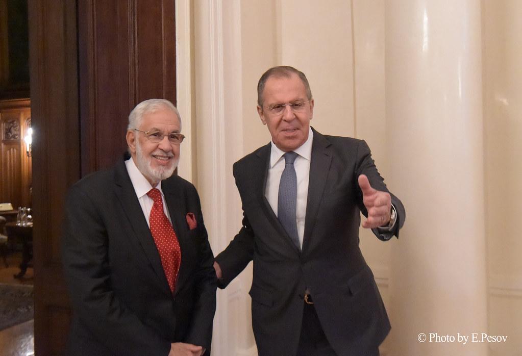 С.Лавров и М.Сияла - Sergey Lavrov and Mohamed Taha Siala