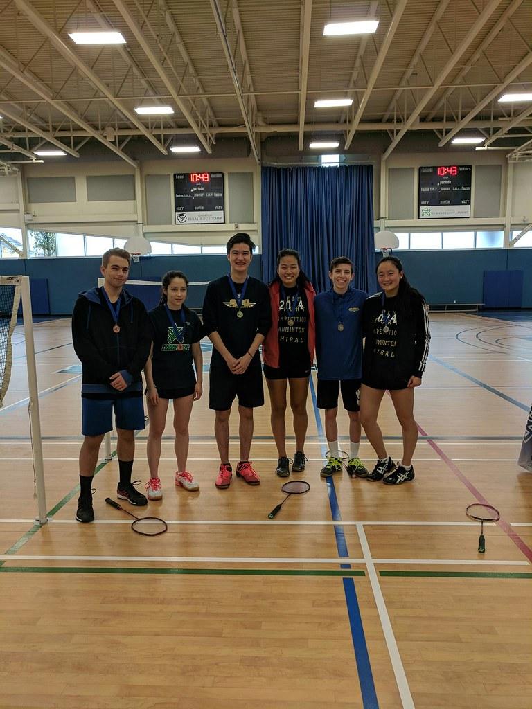 Victoire badminton Jeux du Québec 2017