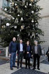 dv., 15/12/2017 - 12:30 - La plaça de Sant Jaume compta amb un arbre de Nadal