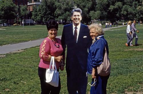 Reagan Cutout Figure, Boston Common - 1985
