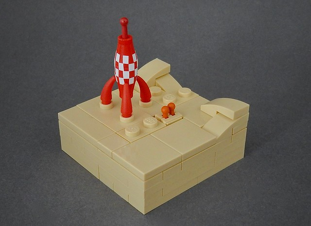 "Micro Lego Tintin ""Explorers on the moon"""