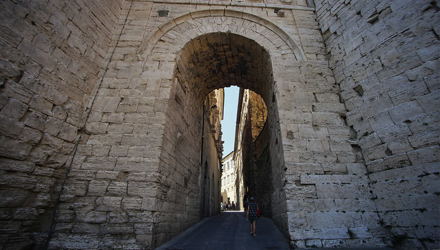 The Arch of Augustus in Perugia restored in 40 B.C.