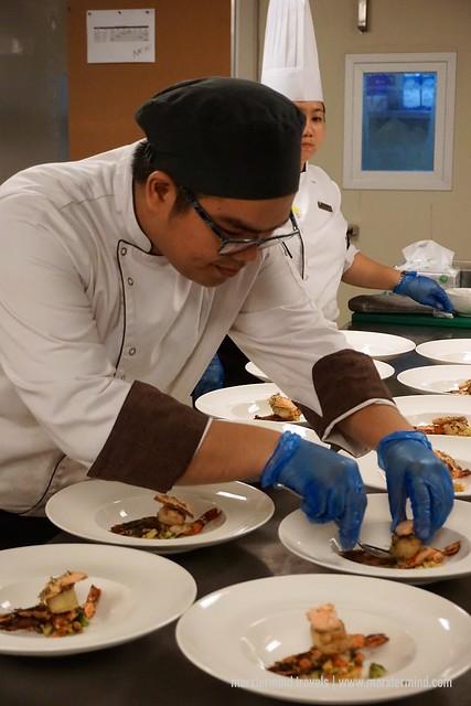 Chef preparing our dinner at Seda Vertis North