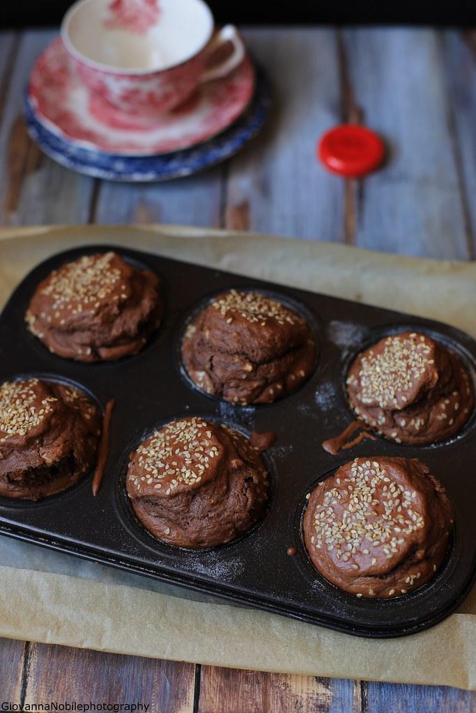 Muffin al cacao e nocciole 2