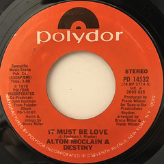 ALTON MCCLAIN & DESTINY:IT MUST BE LOVE(LABEL SIDE-A)