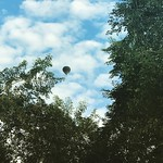 Hot air balloon at the park. by bartlewife
