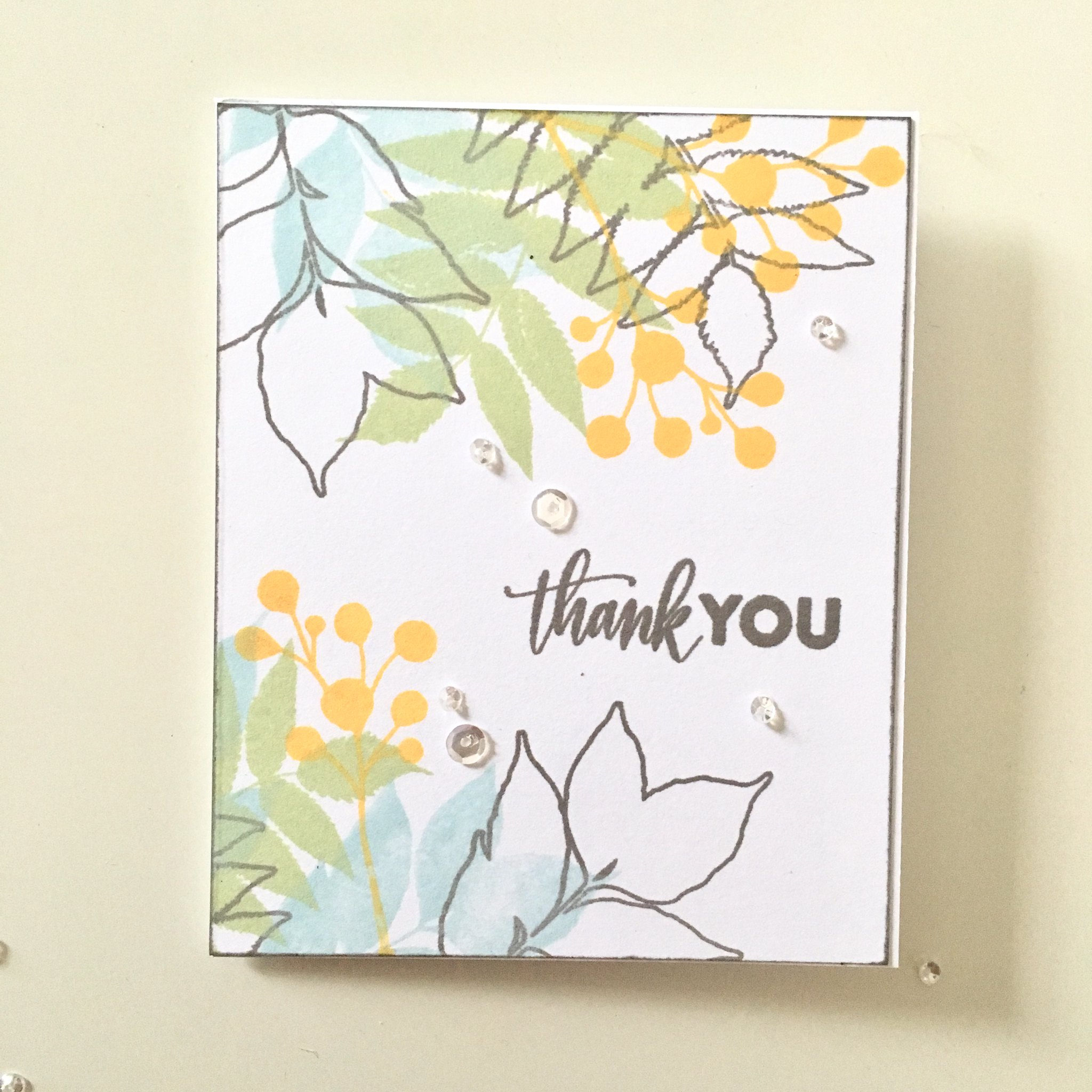 Wplus9 Autumn Leaves thank you card