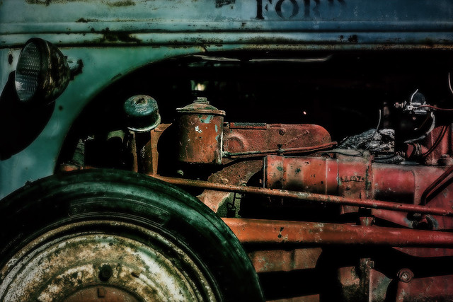 the old ford tractor