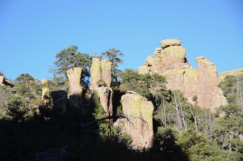 Chiricahua National Monument hoodoos later in the day