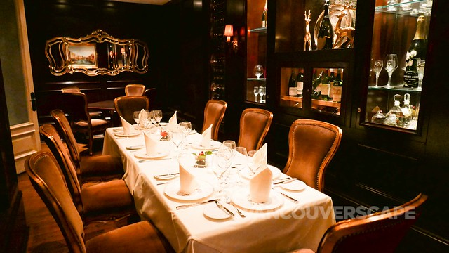 Private dining at Bacchus Restaurant