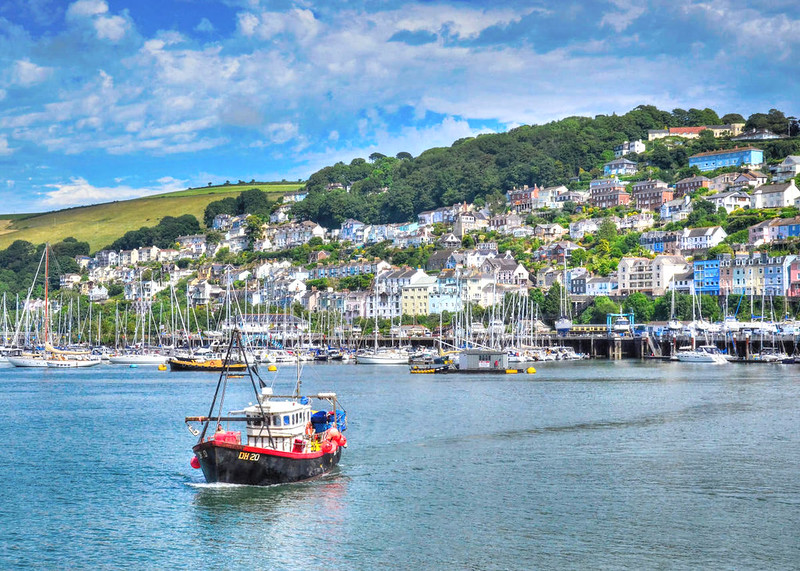 Kingswear on the tidal River Dart within the South Devon Area of Outstanding Natural Beauty. Credit Baz Richardson, flickr