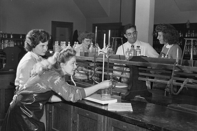 Nurses in chemistry lab
