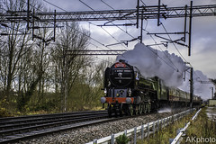 Tornado blasts past at Line Speed, Milford and Brocton pulling the Christmas Cracker