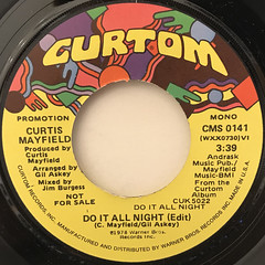 CURTIS MAYFIELD:DO IT ALL NIGHT(LABEL SIDE-A)