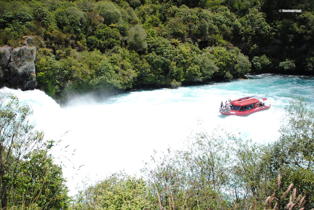 Vesijetti Huka Fallseilla, Uusi-Seelanti