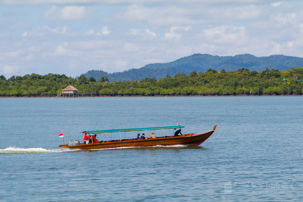 The wooden boat at Telunas