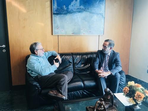El alcalde Francisco Toscano y el consejero Felipe López prolongación del Metro