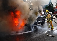 Owner Escapes Injury in NoHo Truck Fire