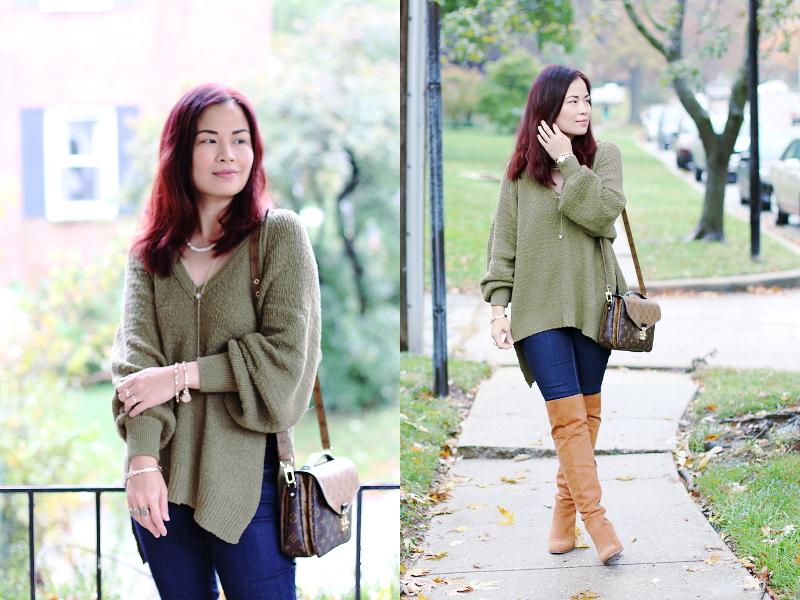olive-green-sweater-jeans-otk-boots-anne-klein-watch