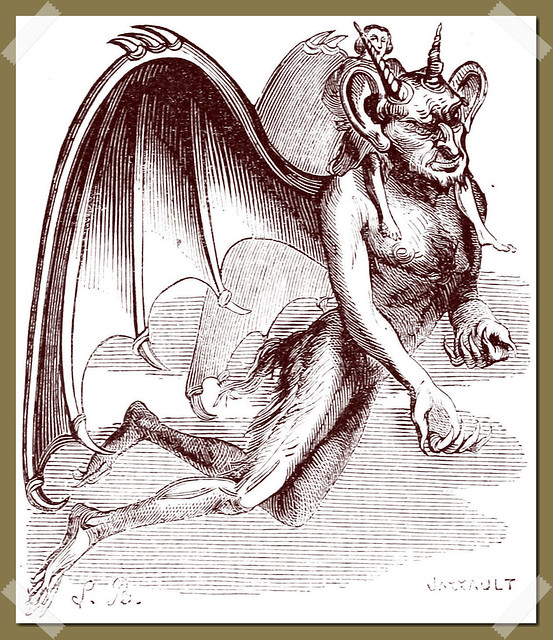 The Demon Gaap ( Tap ) as depicted in Collin de Plancy's Dictionnaire Infernal, 1863 edition.