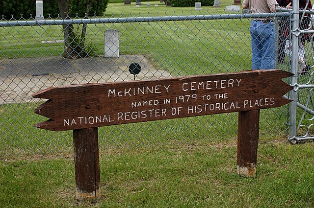 McKinney Cemetery, named to the National Register of Historic Places in 1979
