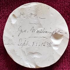 Hirsch Washington Before Boston medal plaster reverse cfopped