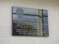 Photo of Angus Adams black plaque