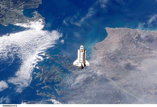 ISS eye view of Shuttle docking
