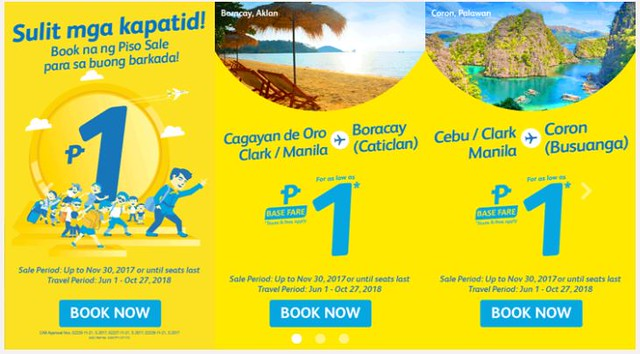 Cebu Pacific Air Piso Sale