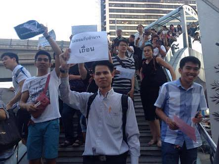 Apichat protest at BACC 23 May 2014