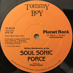 AFRIKA BAMBAATAA & THE SOUL SONIC FORCE:PLANET ROCK(LABEL SIDE-B)