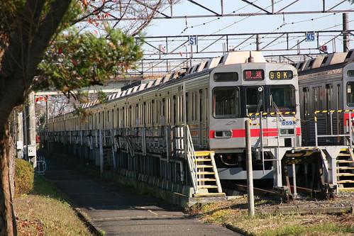 Tokyu 8590 series in Nagatsuta Depot, Yokohama, Kanagawa, Japan /Dec 3, 2017