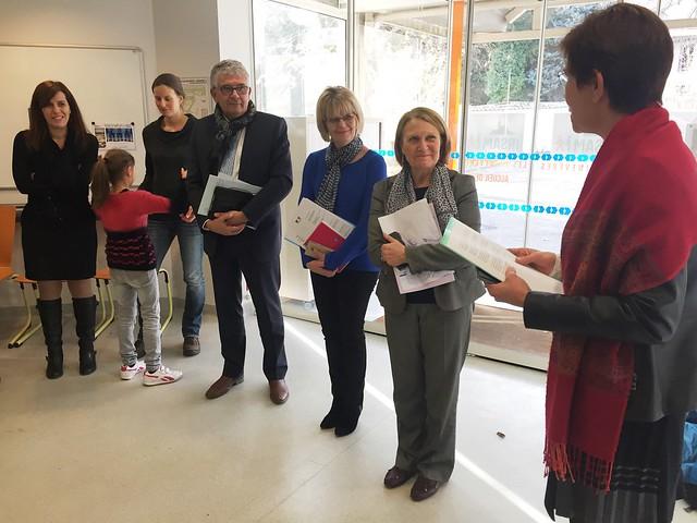 La rectrice se rend à l'Institut d'éducation sensorielle « les Primevères » à Lyon 9ème à l'occasion de la Journée internationale du handicap